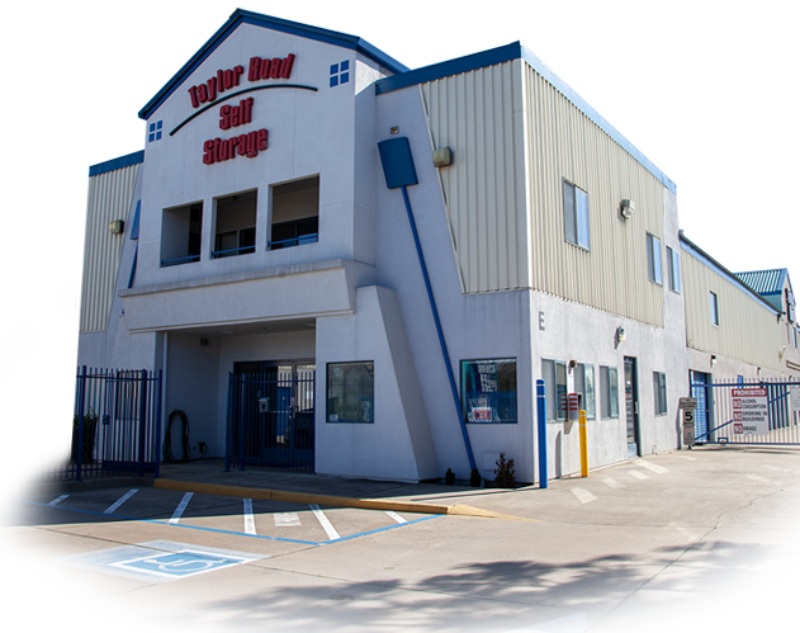 Photo of the exterior of the Taylor Road Self Storage Office